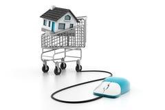 Online Real estate concept. 3d illustration of Online Real estate concept Stock Photos