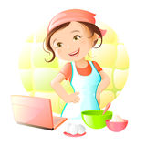 Online Recipe Stock Image