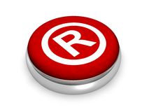 Online Registered Symbol. Concept  in 3D Royalty Free Stock Photography