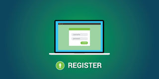Online registration concept Royalty Free Stock Photo
