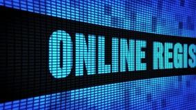 Online-Registrierungs-Seite simsen das In einer Liste verzeichnen des LED-Wand-Anzeigetafel-Zeichen-Brettes stock footage
