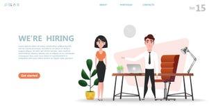 Online rekrutacja i Akcydensowy zatrudnia pojęcie royalty ilustracja