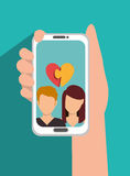 Online relationships design Stock Image