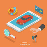 Online rental car service vector concept. Stock Photo