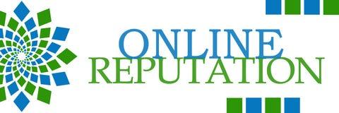 Online Reputation Green Blue Squares Horizontal Stock Photos
