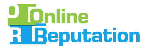 Online Reputation Green Blue Stripes Stock Photography