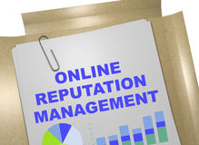 Online Reputation Management concept. 3D illustration of ONLINE REPUTATION MANAGEMENT title on business document Royalty Free Stock Photo