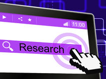 Online Research Means World Wide Web And Analyse Royalty Free Stock Image
