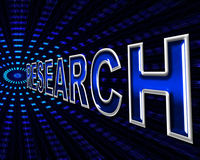Online Research Means World Wide Web And Analyse Royalty Free Stock Images