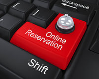 Online Reservation Enter Key Royalty Free Stock Image