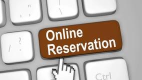 Online reservation keyboard key. Render Illustration Stock Photos