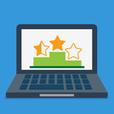 Online review rating top best list abstract concep Royalty Free Stock Image