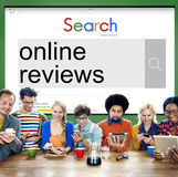 Online Reviews Feedback Comment Suggestion Concept stock image