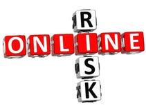 Online-riskkorsord Arkivbilder