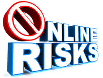 Online risks Stock Photo