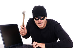 Online robber Royalty Free Stock Photography