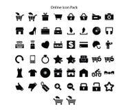 Online Robi zakupy serii ikony paczki projekt ilustracja wektor