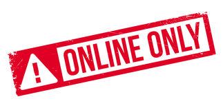 Online Only rubber stamp Royalty Free Stock Photo