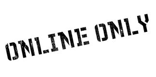 Online Only rubber stamp Stock Images