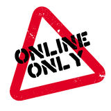 Online Only rubber stamp Royalty Free Stock Image