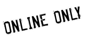 Online Only rubber stamp Royalty Free Stock Images