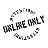 Online Only rubber stamp Royalty Free Stock Photos