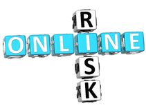 Online ryzyka Crossword Fotografia Royalty Free