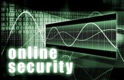 online-säkerhet royaltyfri illustrationer