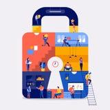 Online-säkerhet för funktionsdugligt utrymme royaltyfri illustrationer