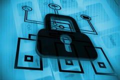 Online-säkerhetsconcet Vektor Illustrationer