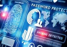 Online-säkerhetsteknologi Arkivbild