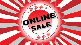 Online Sale stock video