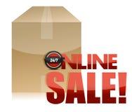 Online sale box illustration design Stock Images
