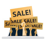 Online Sale Frenzy Stock Images