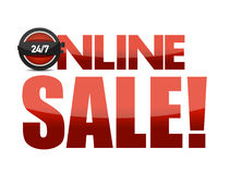 Online sale text illustration design Royalty Free Stock Photo