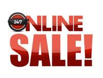 Online sale text illustration design Royalty Free Stock Photo