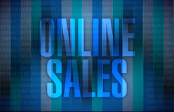 Online sales illustration design Royalty Free Stock Photos