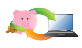 Online savings management Royalty Free Stock Photos