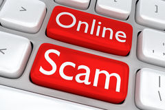 Online Scam concept Royalty Free Stock Image