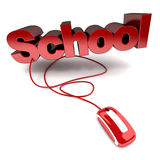 Online school Royalty Free Stock Photo