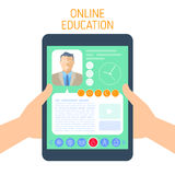 Online school and e-learning concept vector flat illustration. Stock Photography