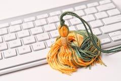 Online schulend Stockfotos