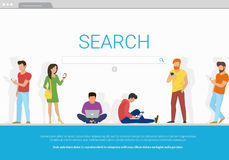 Online search bar concept vector illustration Royalty Free Stock Photo