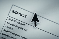 Online search browsing page Royalty Free Stock Photo