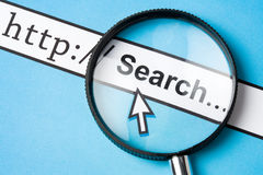 Online searching. Computer Screen, concept of online searching Royalty Free Stock Photo