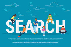 Online searching concept illustration Stock Photo
