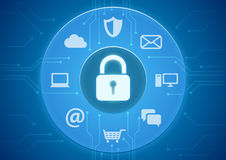 Free Online Security Royalty Free Stock Photography - 42804527