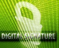 Online security stock illustration