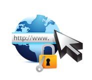 Online security concept illustration design Stock Photos