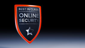 Online security 3D shield design Royalty Free Stock Photo